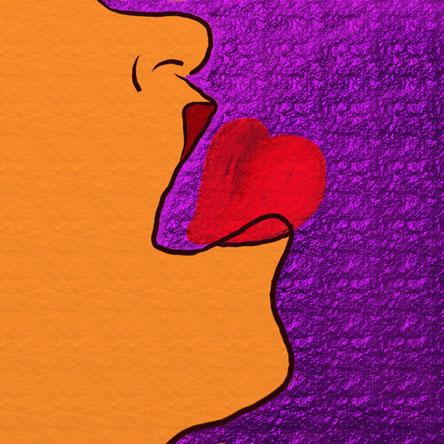 Devoración - Dibujo digital de Delia Govantes